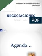 Semana 1 - Sesión 1 - Negociaciones