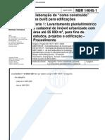 (2) NBR 14645-1 - 2000 - Elaboração do Como Construido (as built)