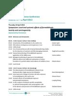 2nd International Formaldehyde Science Conference - Madrid 2012