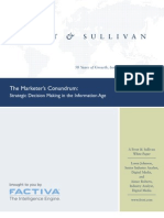 Frost and Sullivan Marketers Conundrum