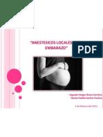 Anestesicos Locales en El Embarazo