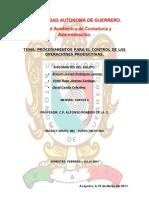 Unidad 1.5 Procedimientos de Control Para Las Operaciones Administrativas