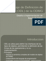 Lenguaje de Definición de Objetos (ODL)