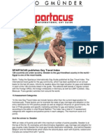 SPARTACUS Publishes Gay Travel Index_press Release_19 March 2012