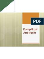 Komplikasi Anestesia FKG 2011