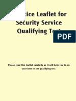 SSQT Practice Leaflet