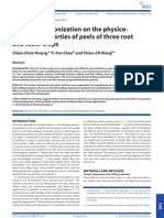 Effects of Micronization on the Physico-chemical Properties of Peels of Three Root and Tuber Crops