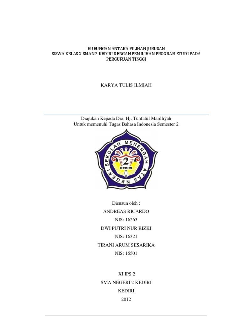 Contoh Judul Karya Ilmiah Bahasa Indonesia Berbagai Contoh