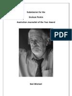 Graham Perkin Journalist of the Year - Neil Mitchell