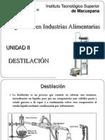 UNIDAD II - Destilación