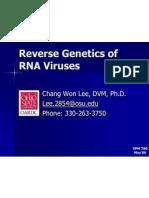 Reverse Genetics - Part I