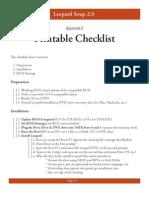 BIOS Checklist
