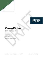 CrowdSolar - Draft Business Plan