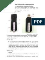 U Disk Camera (MiniU8) Operating Instructions