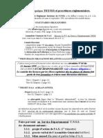 Bref Rappel généRal de Quelques TEXTES Et ProcéDures réGlementaires.