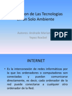 Integracion de Las Tecnologias