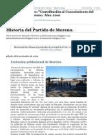 Historia Del Partido de Moreno