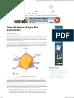 Clean Oil Reduces Engine Fuel Consumption