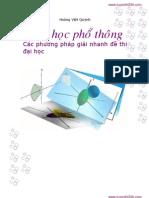 Cac Phuong Phap Giai Nhanh de Thi Dai Hoc Mon Toan