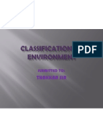 Classification of Economic Environment
