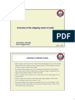 Overview of the Shipping Sector in India (Mr Anil Devli)