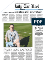 The Daily Tar Heel for March 20, 2012