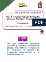 Tema Finanzas Públicas Municipales