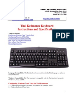 Thai Keyboard Guide