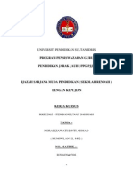 Assignment KKD2036 PEMBANGUNAN SAHSIAH Noralizawati Ahmad EL M02