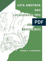 Bokermann 1966 Lista Anotada Das Local Ida Des Tipo de Anfibios Brasileiros
