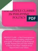 The Middle Classes in Philippine Politics