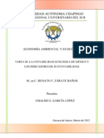 TAREA III La contabilidad ecológica de México y los indicadores de sustentabilidad