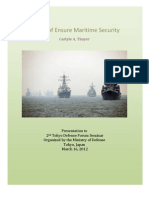 Thayer Efforts to Ensure Maritime Security in East Asia