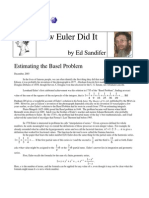 How Euler Did It 02 Estimating the Basel Problem