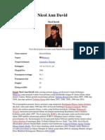 Biodata Nicol Ann David