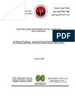 Structural Investigation Report (Sign Board)