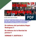 Noticias Uruguayas Martes 20 de Marzo de 2012