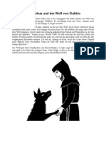 Franziskus Und Der Wolf Von Gubbio