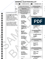 Sample ballot, Franklin County, 2008