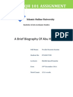 Brief Bio of Abu Hanifa