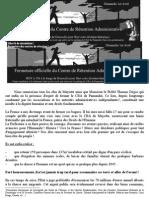 CP 1er Avril - Affiche - Fermeture Centre Pamandzi
