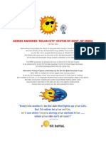 Shirdi awarded 'Solar City' Status by Govt. of India