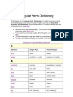 Irregular Verb Dictionary