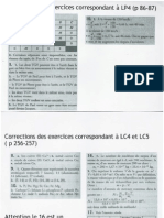 2nd Correction Exercices LC4 LC5 LP4