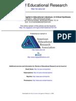Applications of Social Capital in Educational Literature