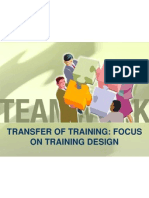 Transfer of Training Focus on Training Design