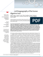 Bacterial Bio Geography of the Human Digestive Tract