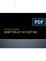 debt policy at ust inc essay