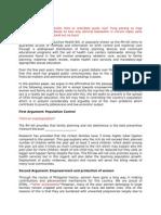 RH Bill_Position Paper