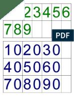 Targes de números Montessori